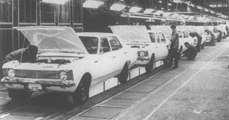 1969: Linha de montagem em São Caetano do Sul.