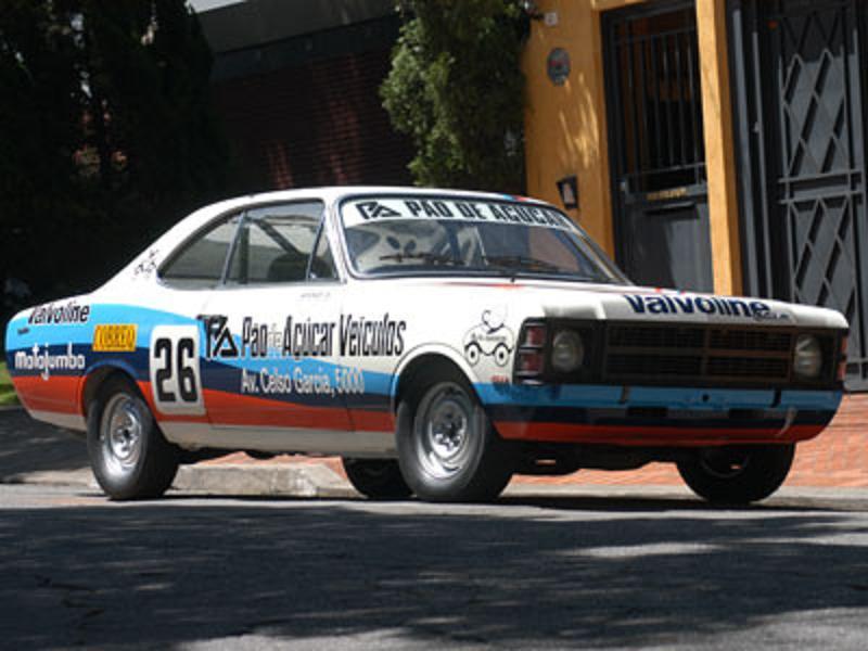 Opala 1978 restaurado da divisão 1. Pré-história da Stock Car.