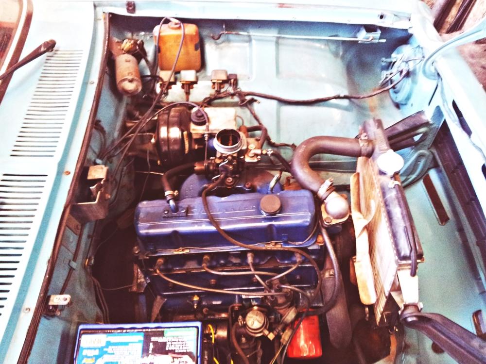 A última foto do motor quatro cilindros, depois de algumas centenas de milhares de quilômetros rodados.