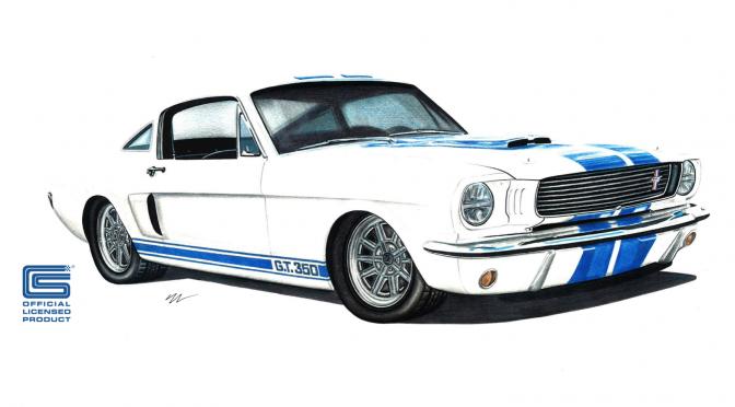 Estudo da releitura do lendário Shelby GT 350.